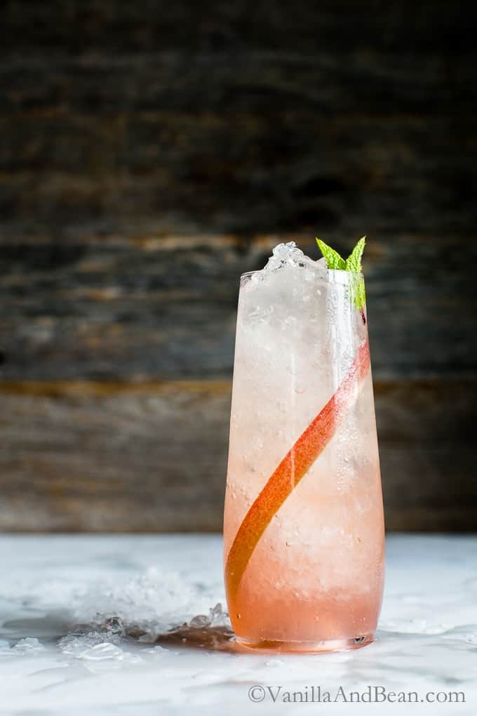 Lemongrass-Ginger Rhubarb Soda from Vanilla and Bean