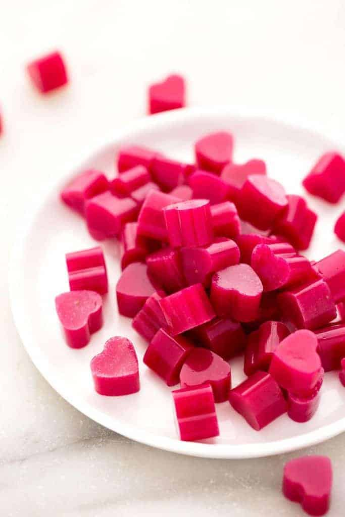 Strawberry Heart Beet Gummies from Blissful Basil