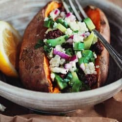 Summer Stuffed Sweet Potatoes