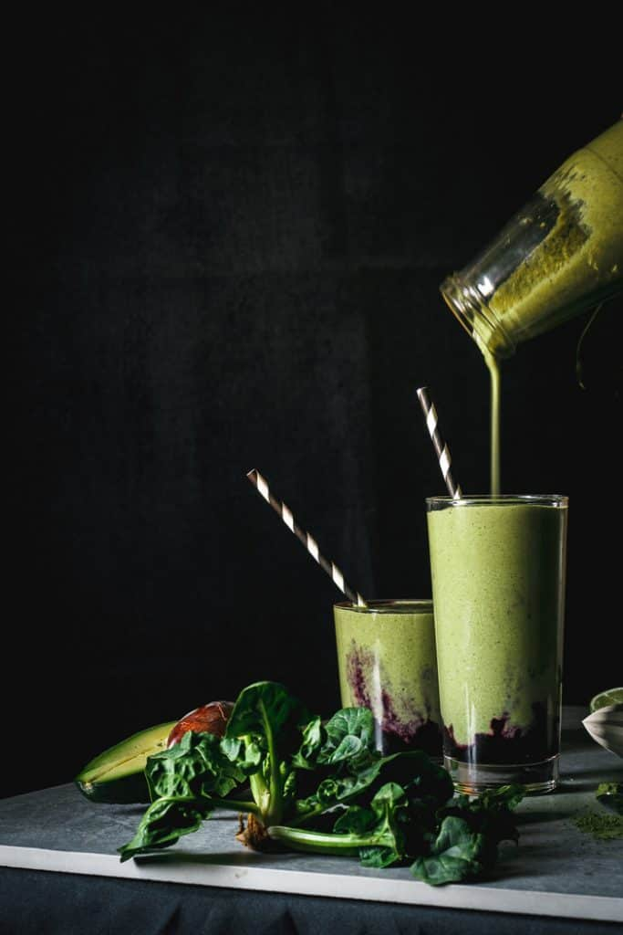 Antioxidant-Packed Blueberry Matcha Smoothie from Use Your Noodles