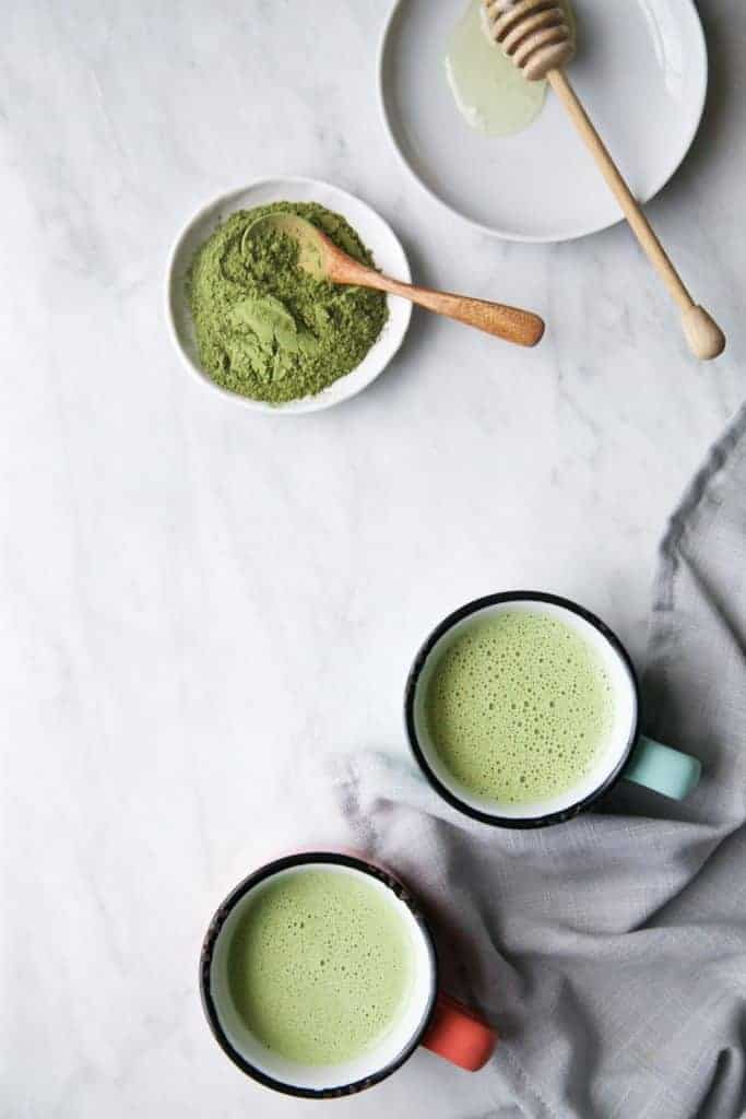 Creamy Matcha & Moringa Latte from The Green Life