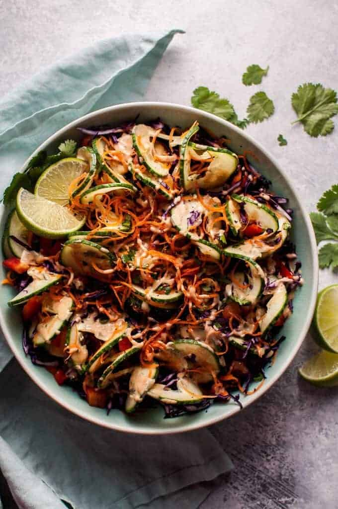 Spiralized Thai Salad from Salt and Lavender