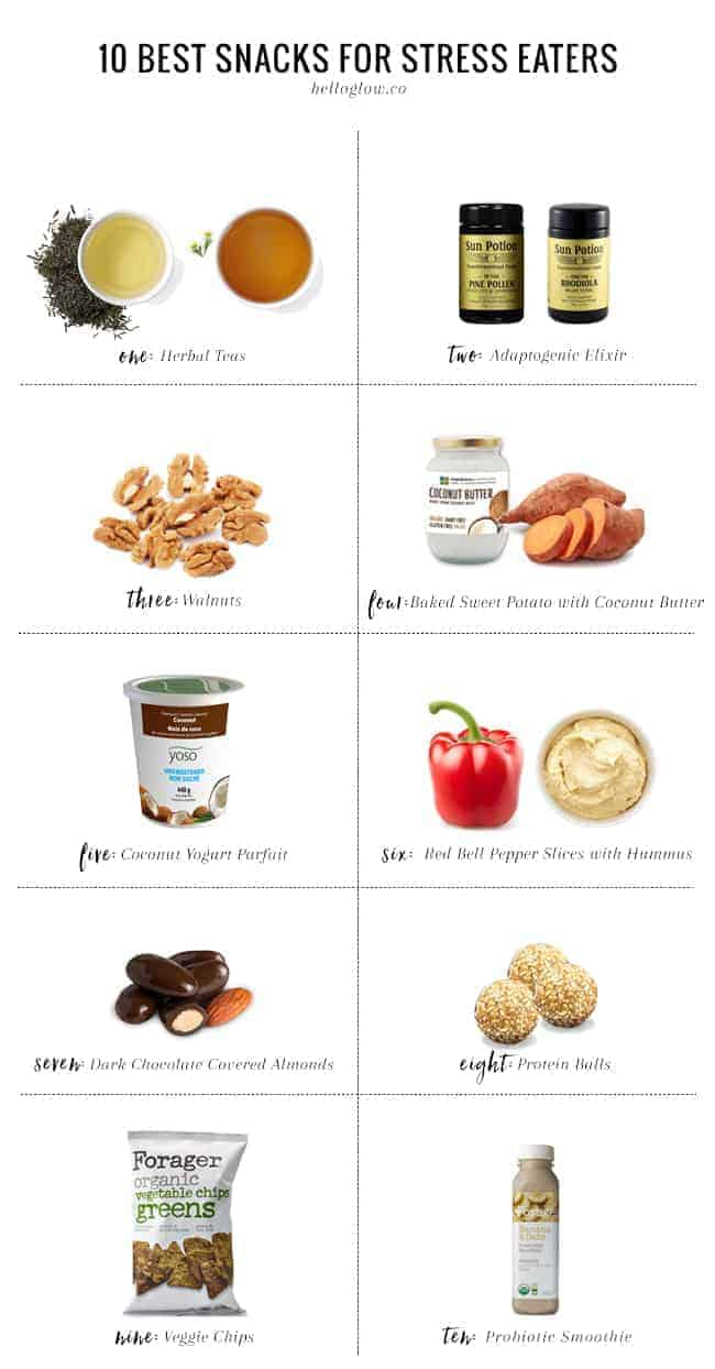 10 Best Snacks for Stress Eaters
