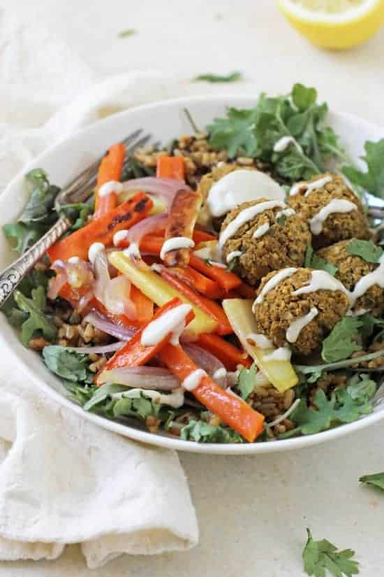 Baked Sweet Potato Falafel - Ashley from Cook Nourish Bliss
