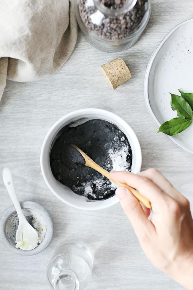 Skin Soothing Black Bath Bombs With Activated Charcoal