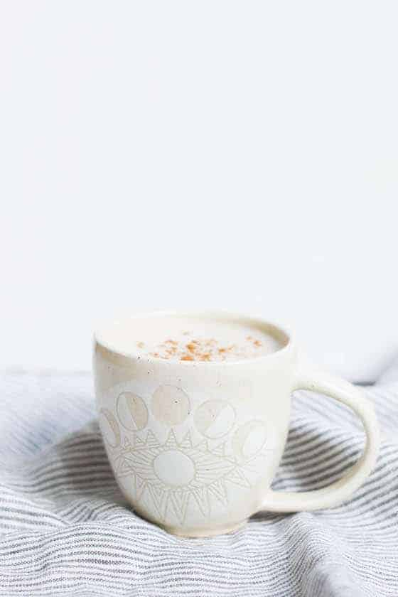 Cinnamon Vanilla Cordyceps Latte from Food By Mars