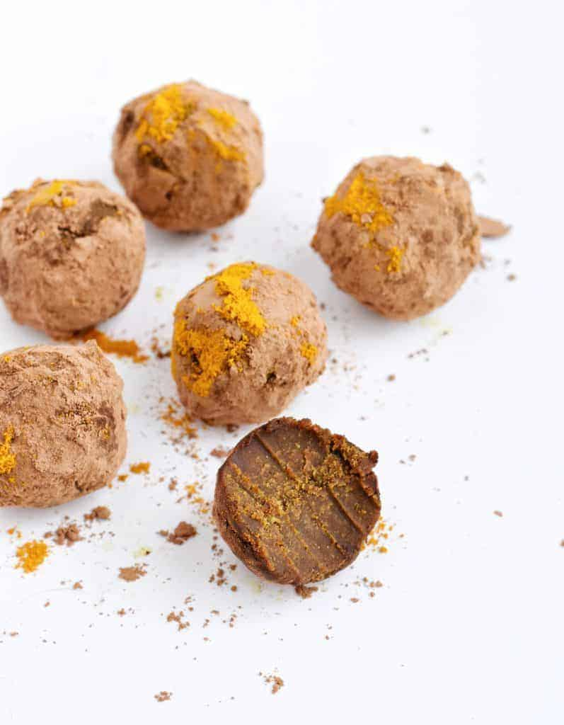 Paleo Adaptogenic Golden Milk Chocolate from Holistic Rendezvous