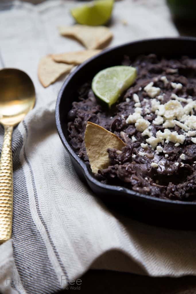 Refried Black Beans with Garlic and Lime from Fake Food Free