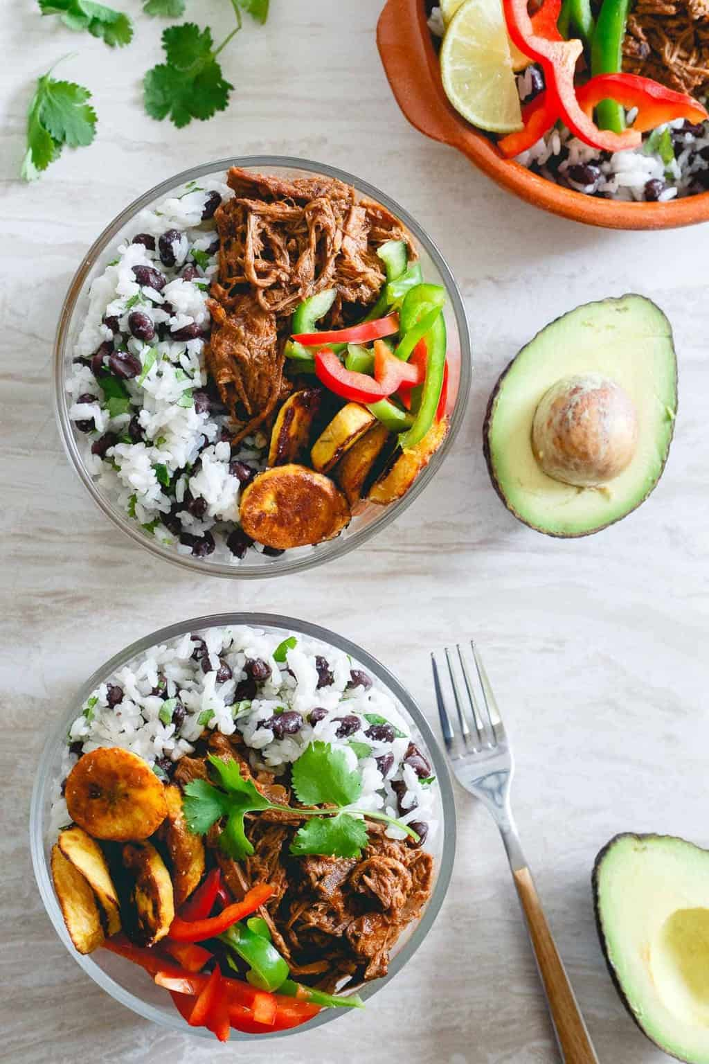 Shredded Mexican Beef Bowls - Gina from Running to the Kitchen