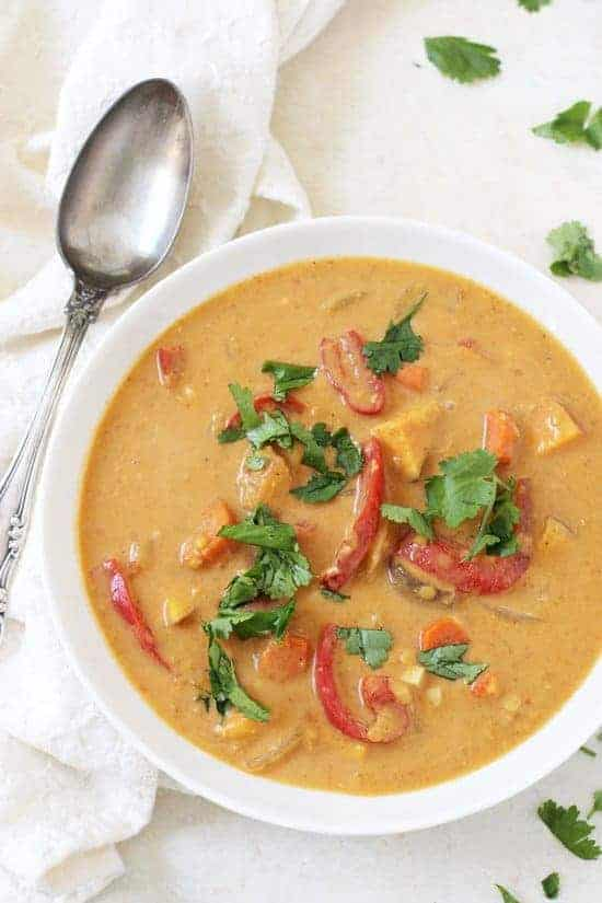 Slow Cooker Thai Sweet Potato Soup - Ashley from Cook Nourish Bliss
