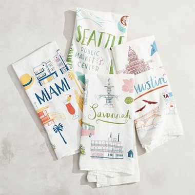 Claudia Pearson City Tea Towels