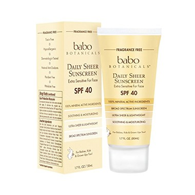 Babo Botanicals SPF 40 Daily Sheer Facial Sunscreen