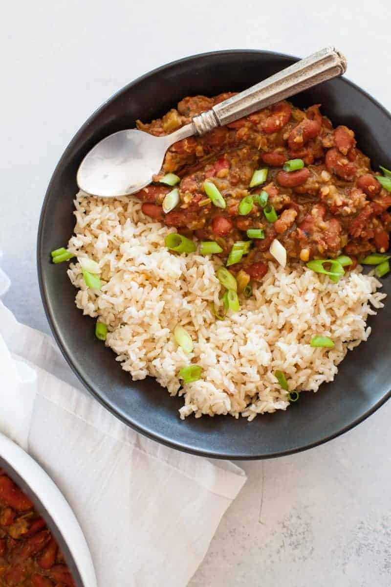 Vegan Red Beans and Rice - Cassie from Wholefully