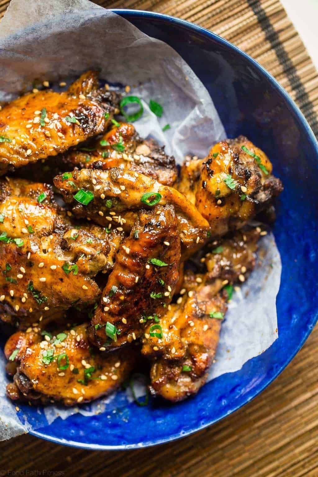 Sticky Slow Cooker Chicken Wings with Pineapple 5-Spice Sauce - Taylor from Food Faith Fitness
