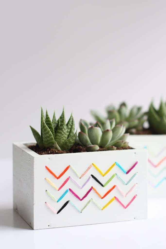 DIY Stitched Planters