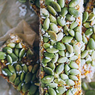 Energizing Pumpkin Seed Granola Bars