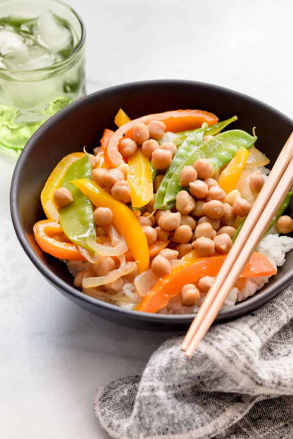 Your New Go-To Meatless Monday Dinner: Quick Chickpea Stir Fry