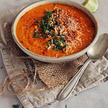 Inner Glow Carrot, Sweet Potato & Red Lentil Soup