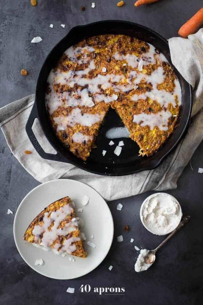 Carrot Cake Paleo Breakfast Bake from 40 Aprons
