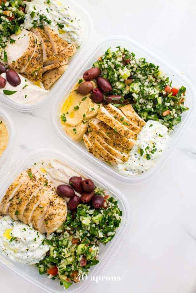 Greek Meal Prep Bowls from 40 Aprons