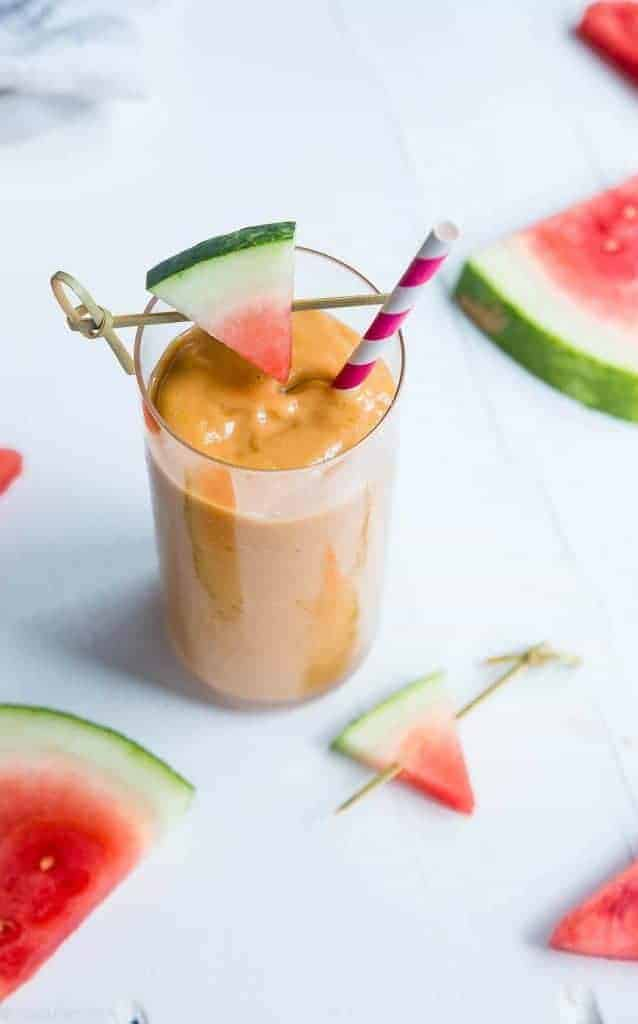 Mango Avocado Smoothie with Watermelon from Food Faith Fitness