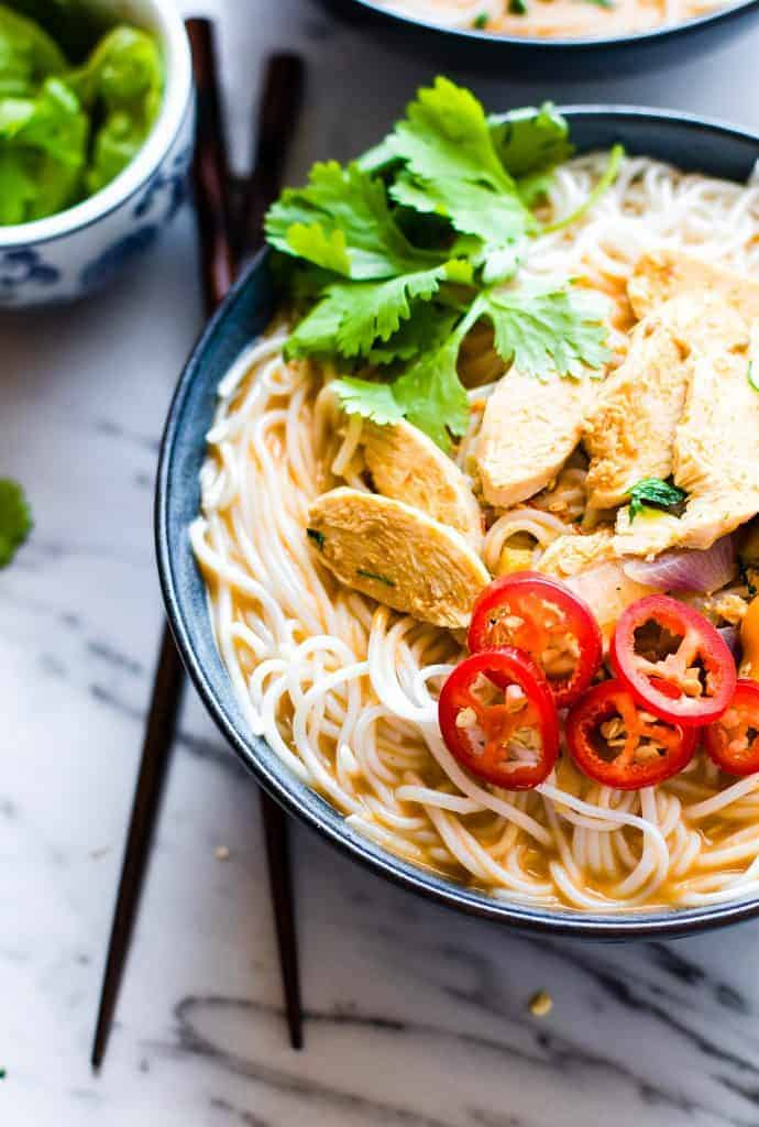Spicy Almond Chicken Pho from Cotter Crunch