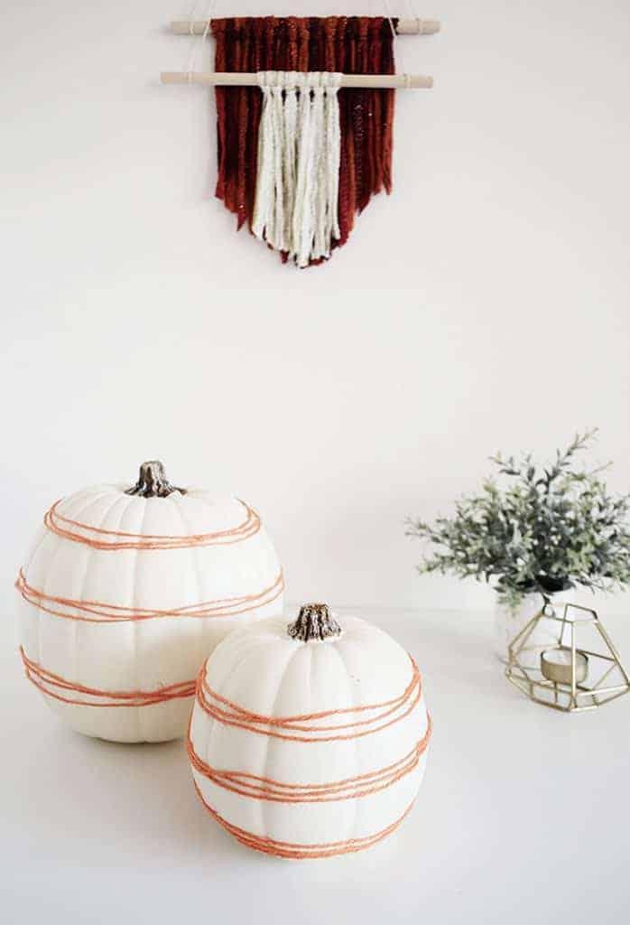 Yarn Wrapped Pumpkin