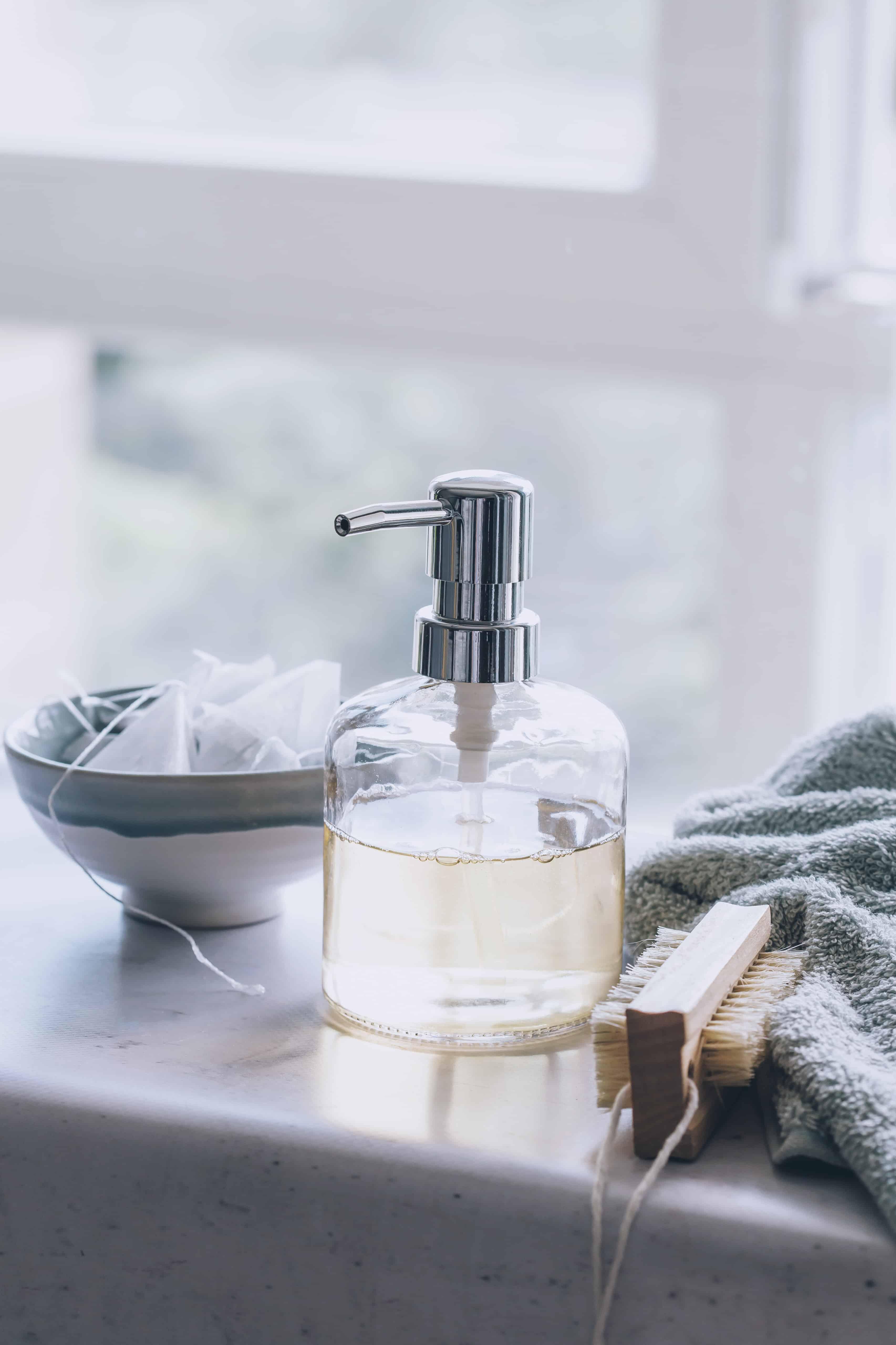 Homemade Hand Soap with Lemongrass