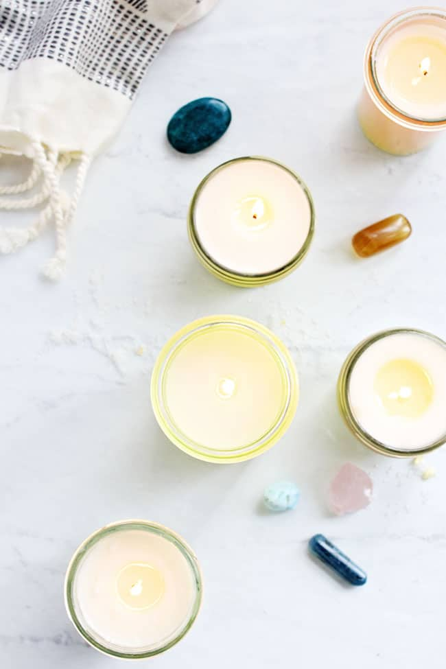Energize Your Space With These DIY Hidden Crystal Candles