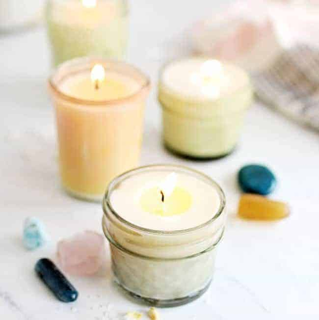 hidden crystal candle