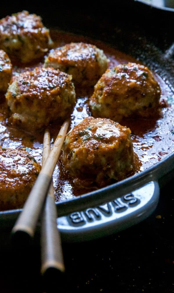 Thai Red Curry Chicken Meatballs from Climbing Grier Mountain