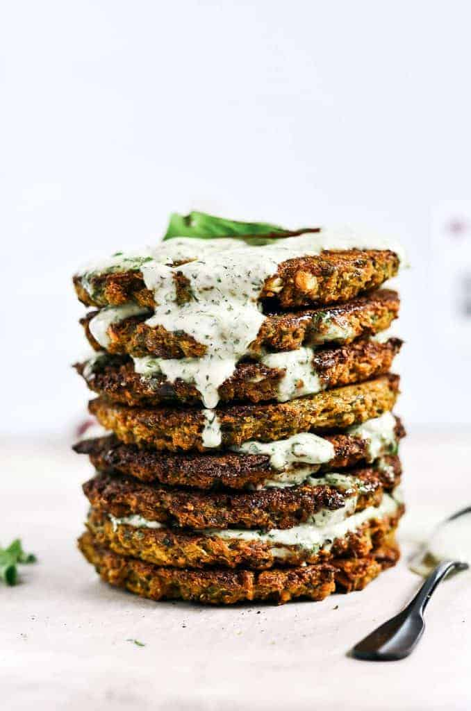 Crispy Baked Cauliflower Patties from Paleo Gluten Free