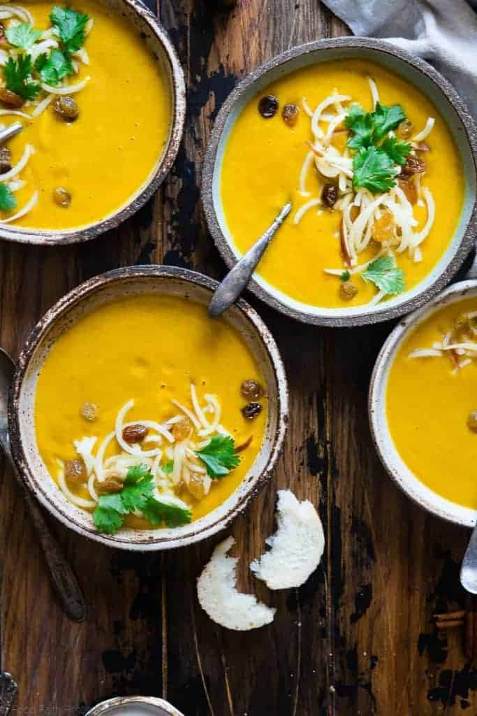 Slow Cooker Kabocha Squash Soup from Food Faith Fitness
