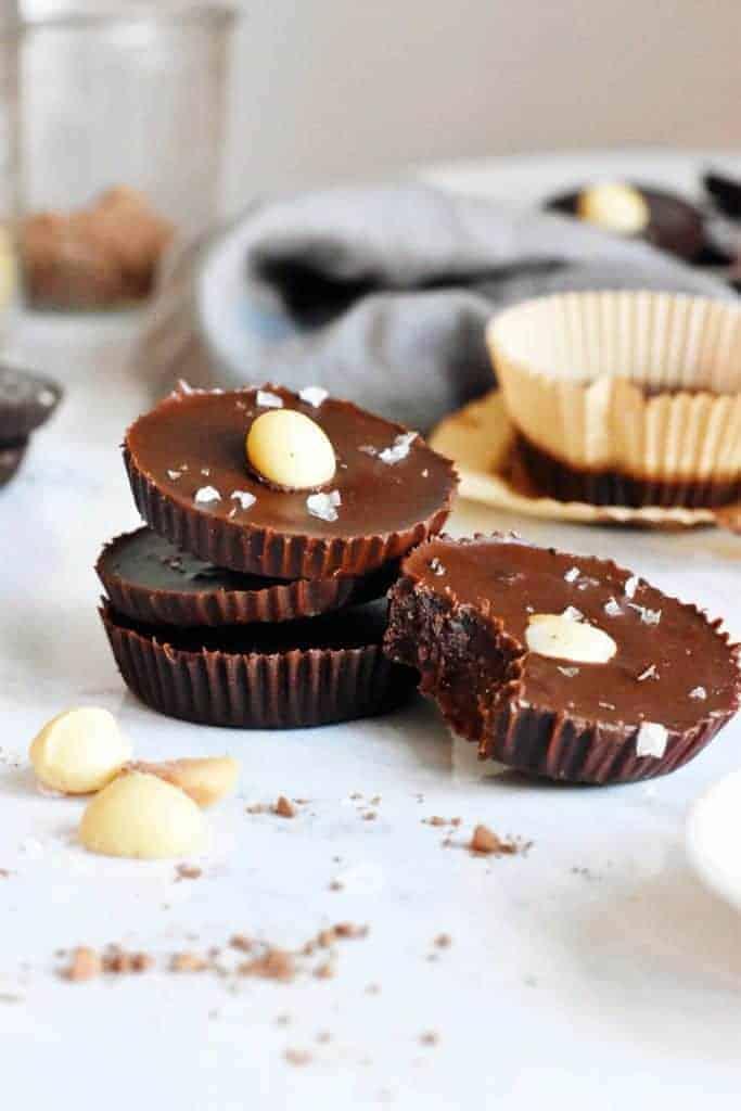 Salted Chocolate Macadamia Nut Fat Bombs