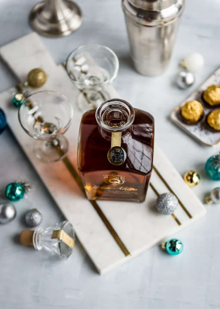 Holiday Rum Cocktail made with Don Q Gran Anejo Rum and hints of chocolate, hazelnut, and nutmeg | HelloGlow.co