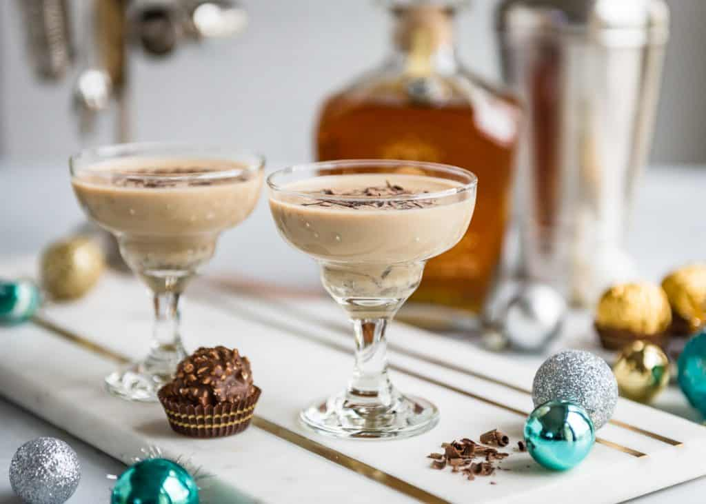 Holiday Rum Cocktail made with Don Q Gran Anejo Rum and hints of chocolate, hazelnut, and nutmeg   HelloGlow.co