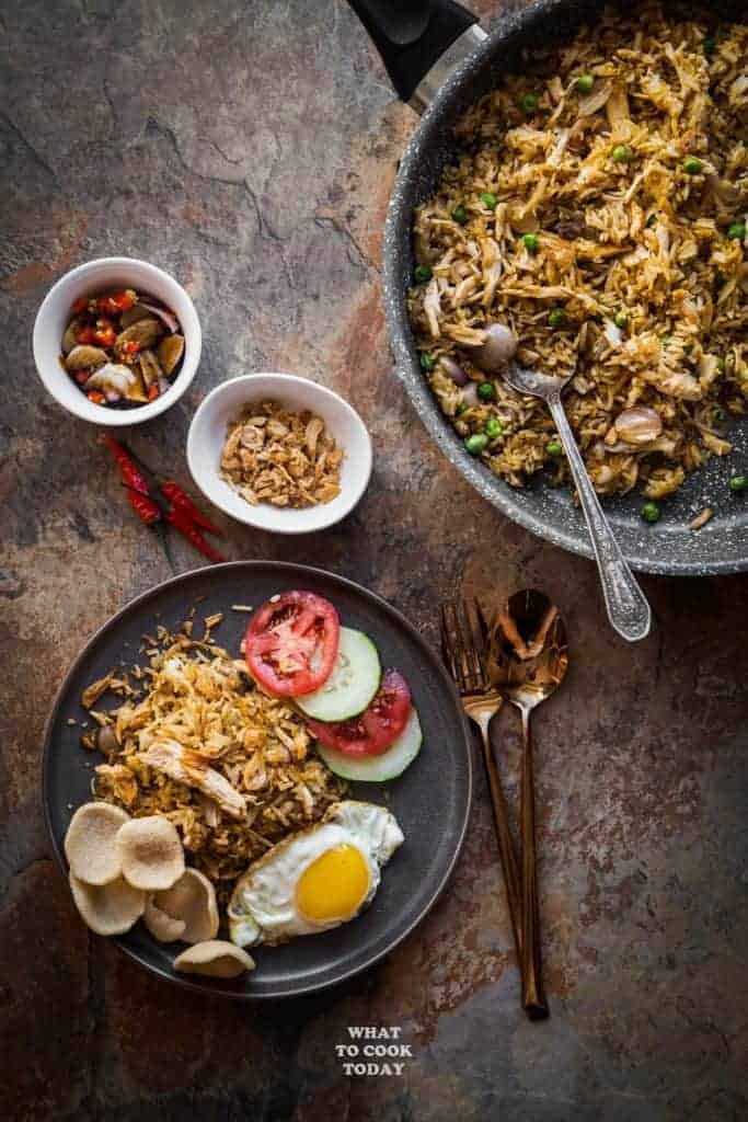 Leftover Turkey Nasi Goreng from What To Cook Today