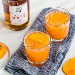 A Holiday Cocktail With a Twist: Persimmon Spiced Rum Old Fashioned