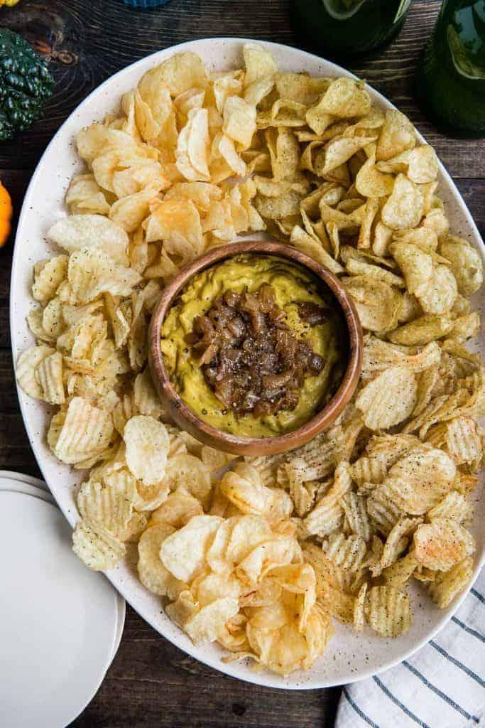 Pumpkin Caramelized Onion Dip | HelloGlow.co