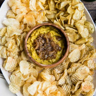 Impress Your Holiday Guests With This Pumpkin Caramelized Onion Dip