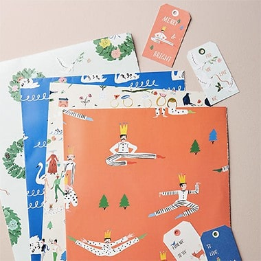 Merry & Bright Wrapping Paper Book
