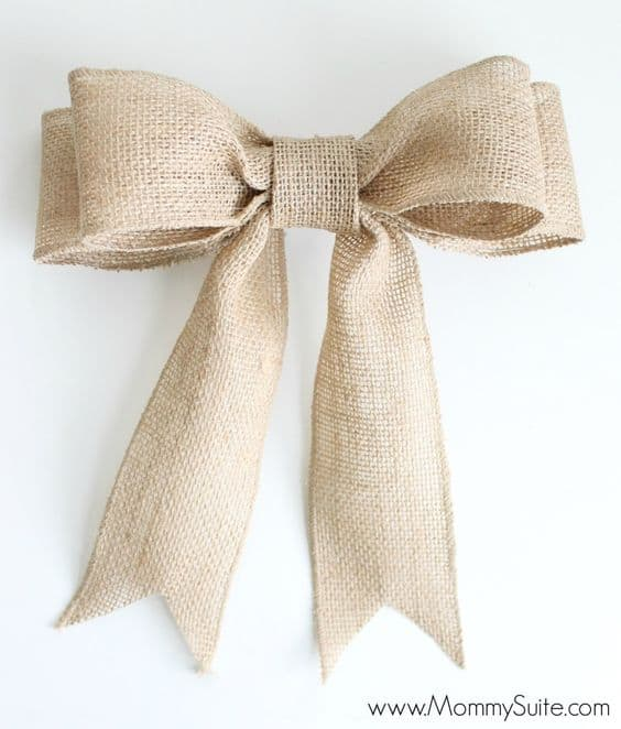 25 Gorgeous DIY Gift Bows (that look professional!) - Perfect Burlap Bow