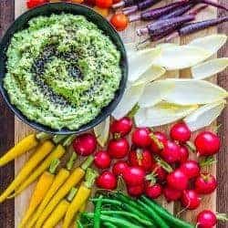 This Edamame Hummus Crudité Platter Is Holiday Entertaining Goals