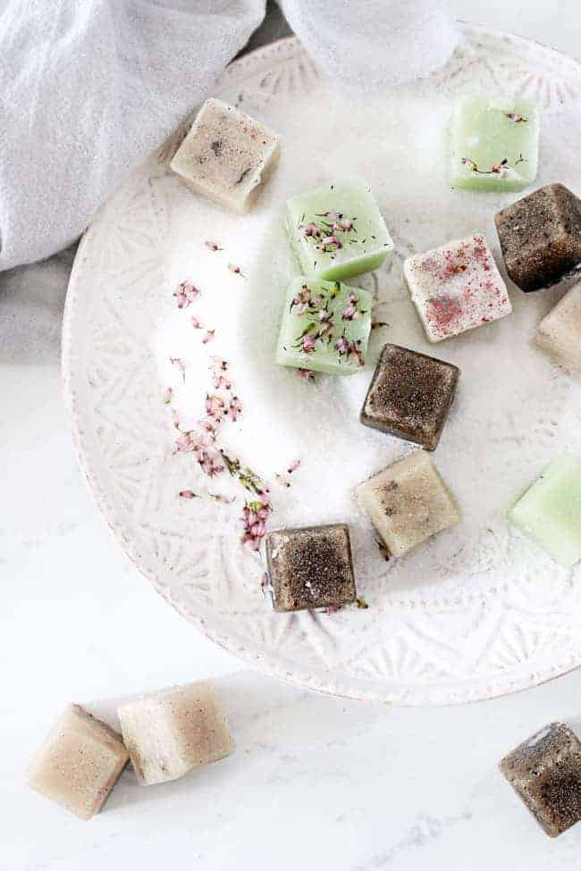Totally Giftable Sugar Scrub Cubes from Hello Glow