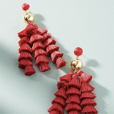Corsetta Tassel Drop Earrings