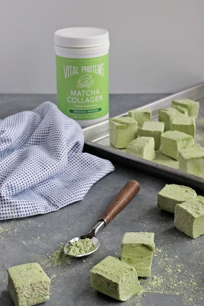 Festive Matcha Marshmallows Made with Collagen