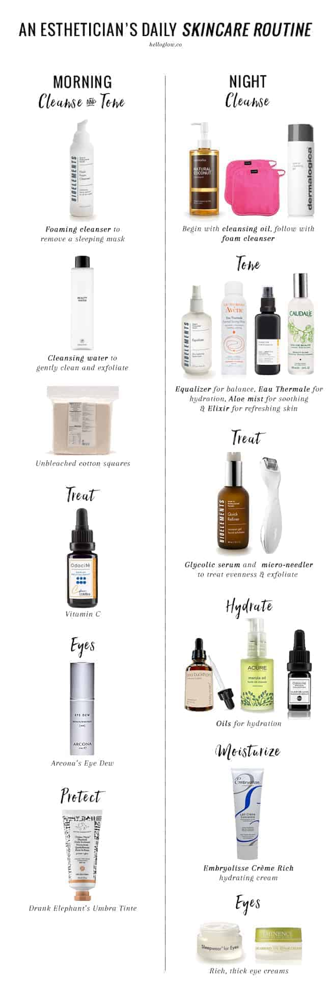 Our Esthetician Shares Her Daily Winter Skincare Routine  Hello Glow