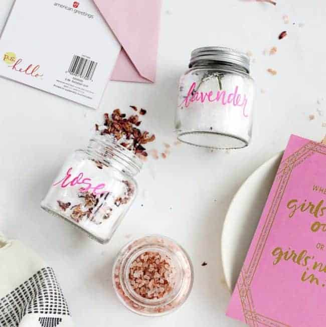 A Trio of DIY Bath Salts for Your Galentines