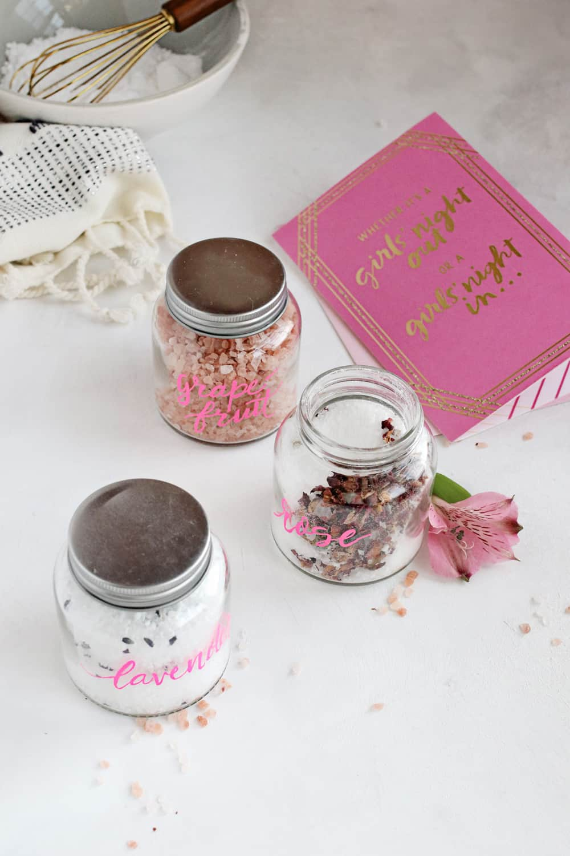 A Trio of DIY Bath Salts for Your Galentines