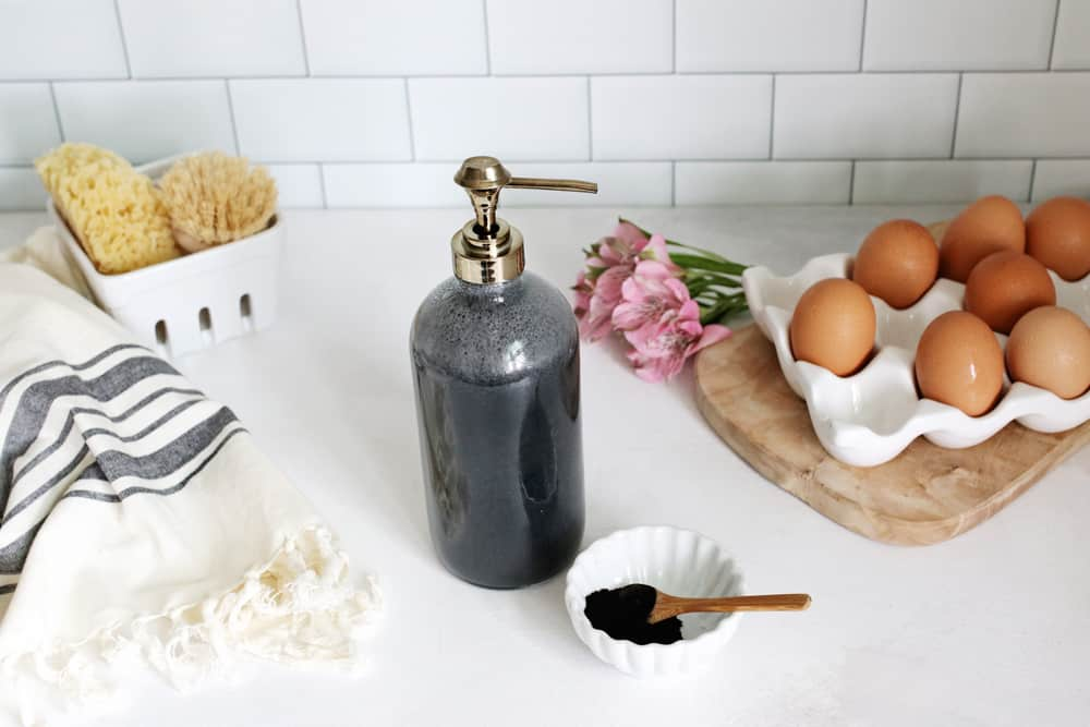 We're Kind of Obsessed With This DIY Charcoal Hand Soap